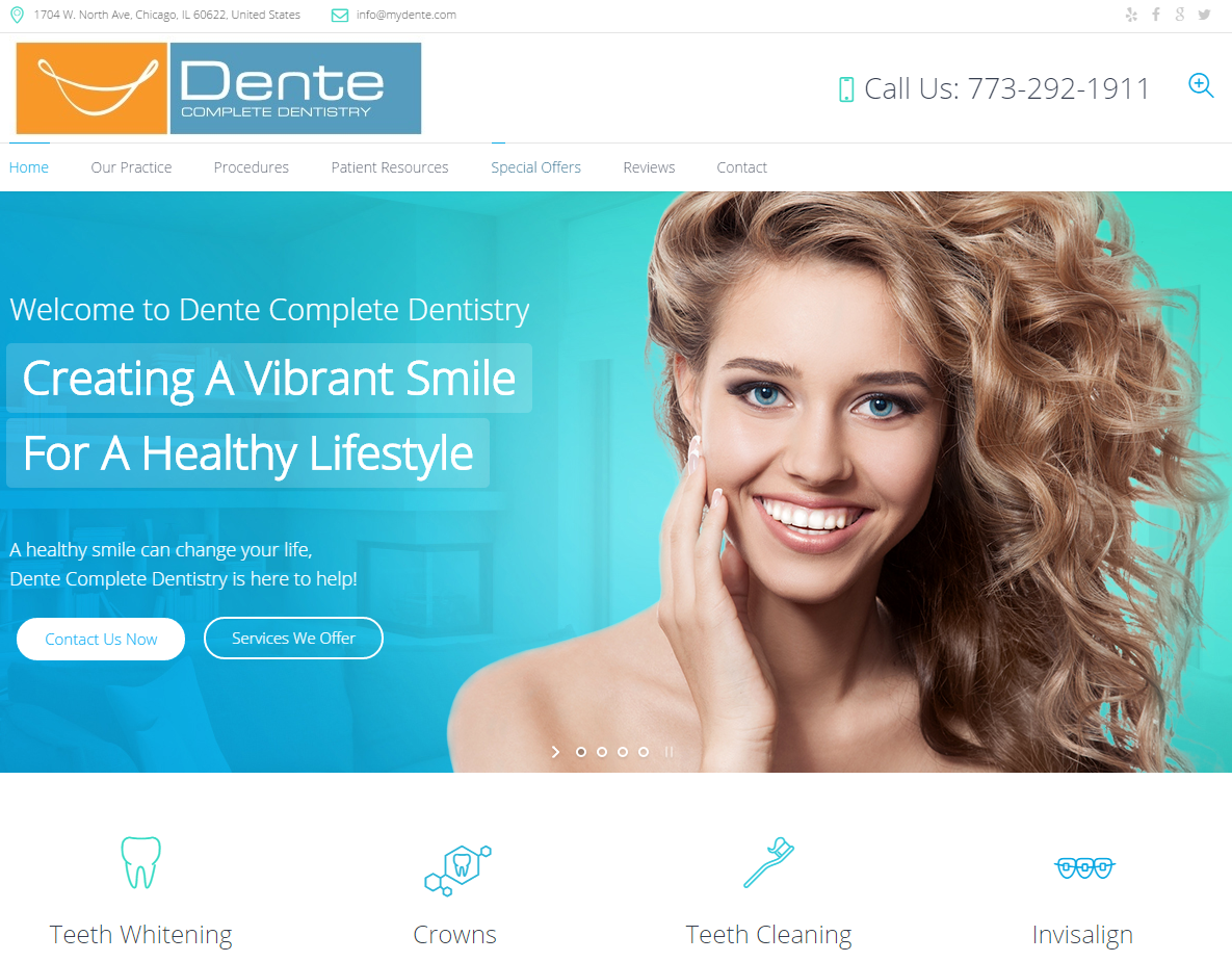 Dente Complete Dentistry - WordPress
